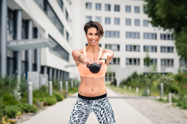 "Bilderserie mit Christina ""My strength ist my fitness"", fotografiert im Juni 2016 in Nürnberg."